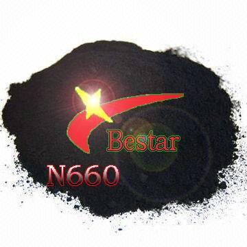 Rubber reinforcing carbon black N660