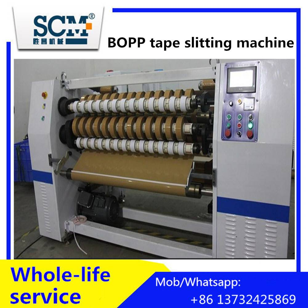 Adhesive Tape Jumbo Roll Slitting Rewinding Machine