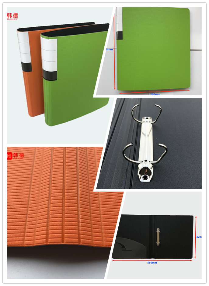 Office supplies high quality durable using colorful FC PP foam 2 hole D ring binder file
