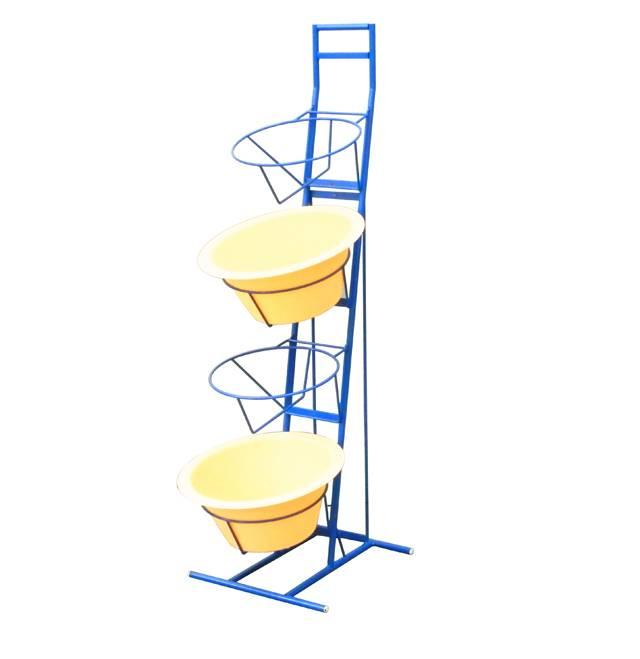 4tiers food basket metal display shelf