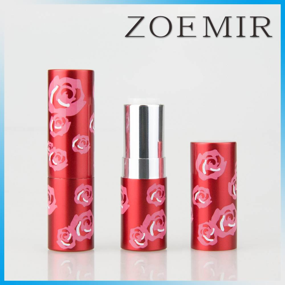 Korea hot sale aluminum cylinder noble lipstick container with fashion style