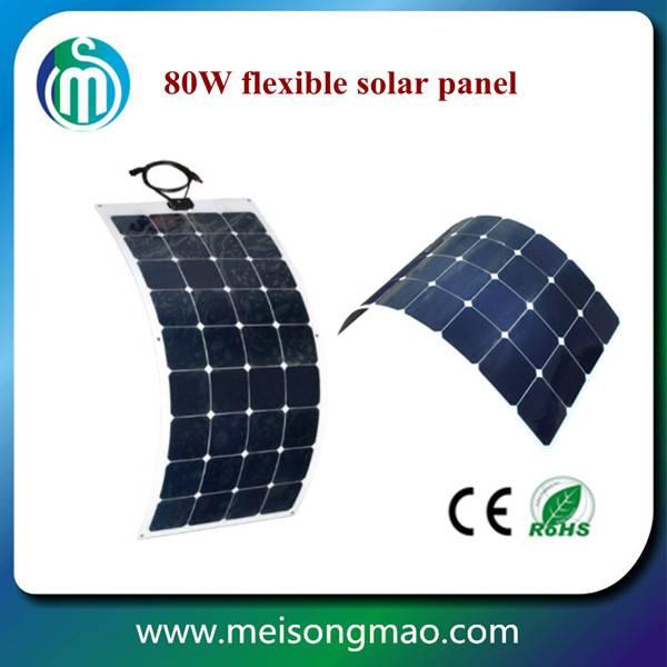 high efficiency Sunpower solar cell flexible solar panel 80w 18V for home solar system