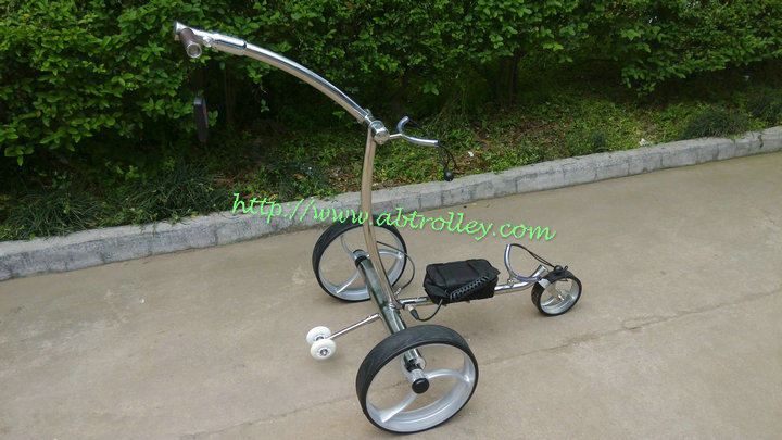 Noble stainless steel remote golf trolley 007R