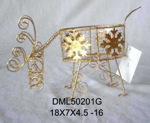 Metal Christmas deer figurine
