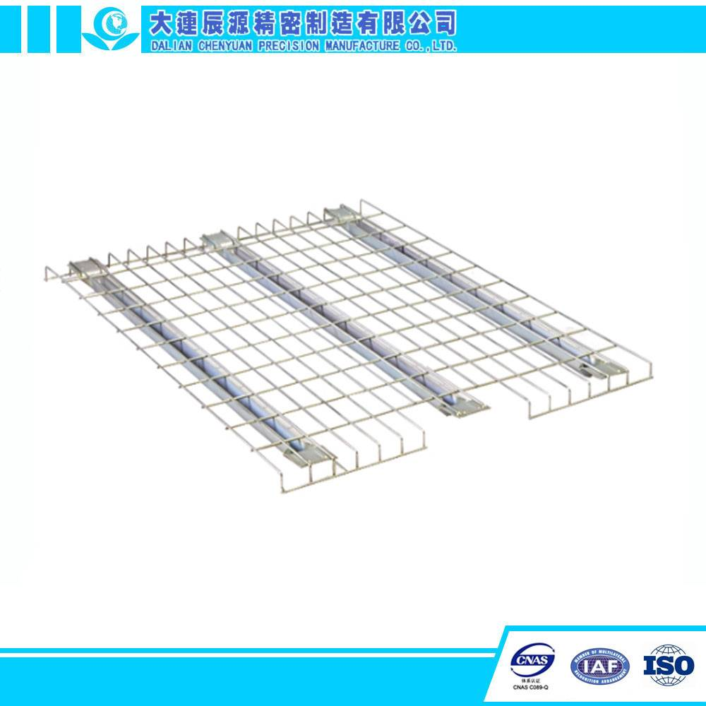 China Warehouse Storage System use Support Bar Strenghened Wire Mesh Decking