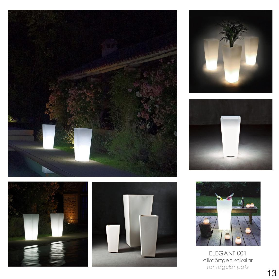 Indoor/Outdoor LED lighting Pots