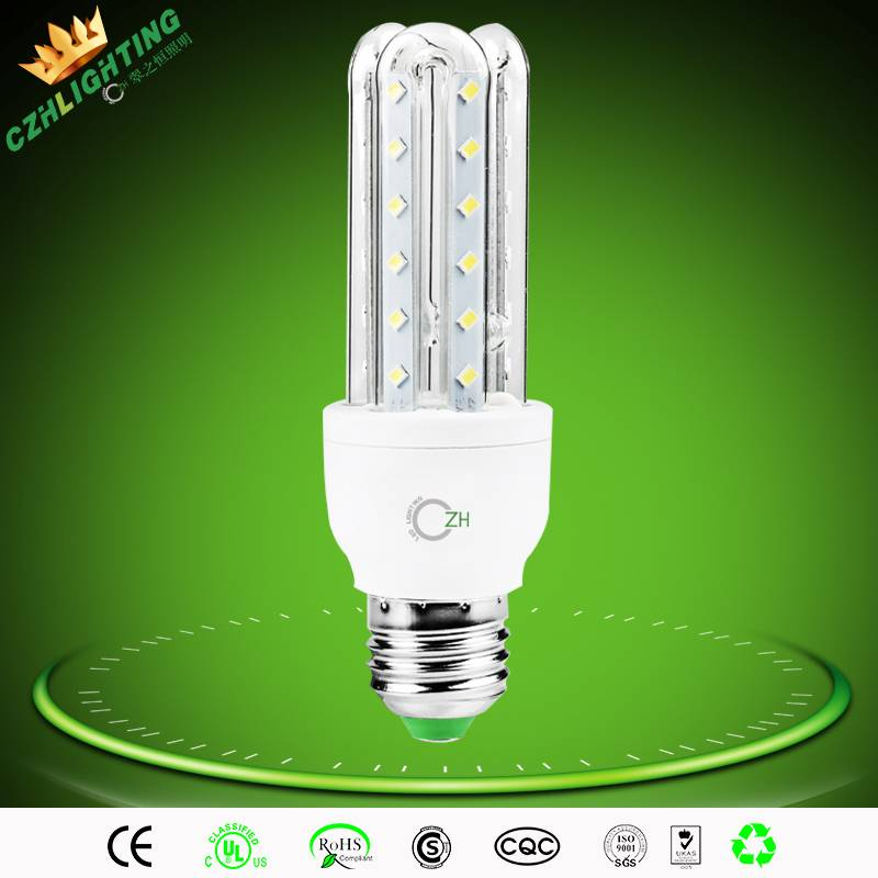 3/5/7/9/12/16/23/32w led corn light e27 u shape led corn light with 360 degree