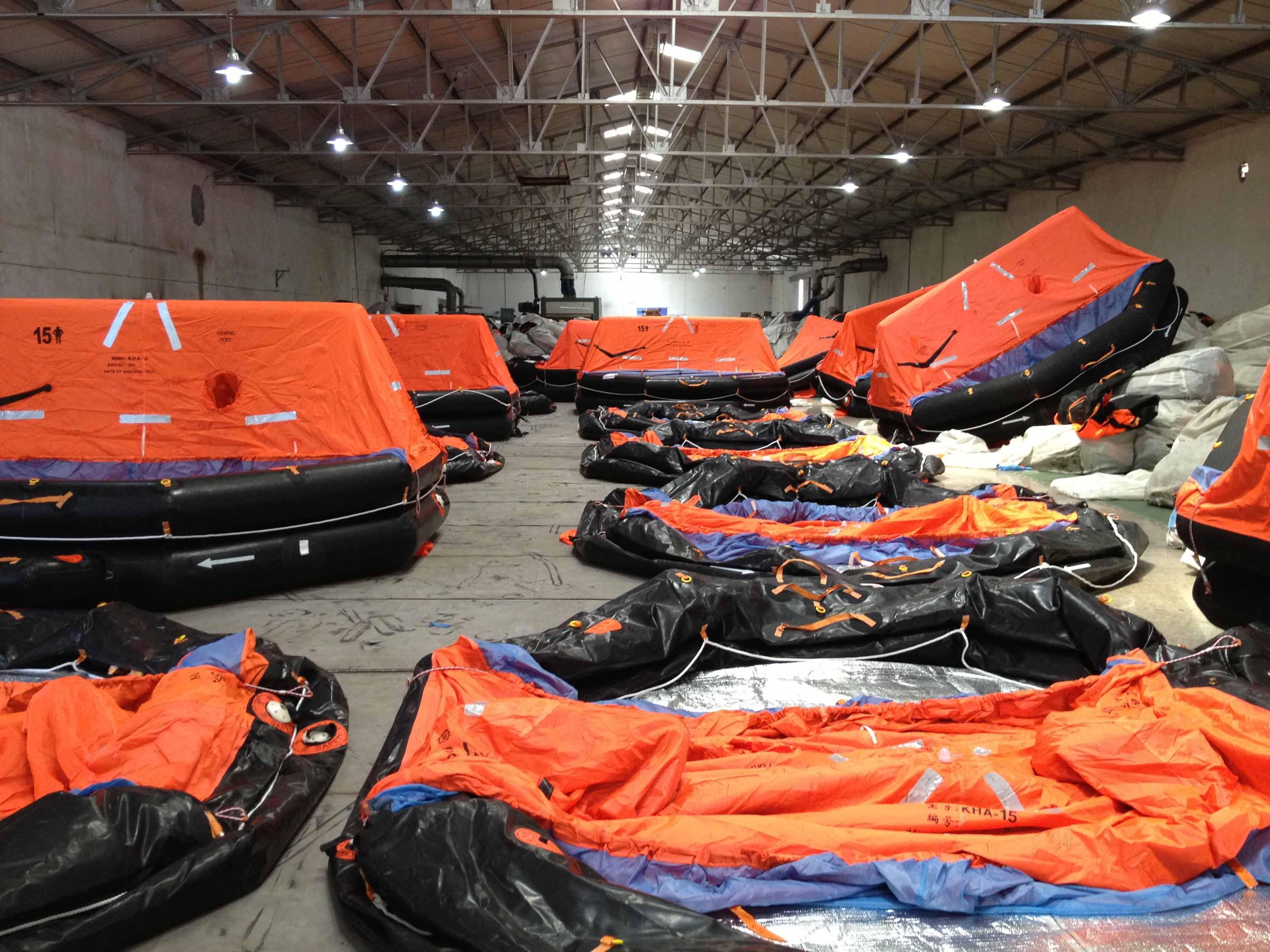 6 Persons marine inflatable life raft, Solas emergency liferaft