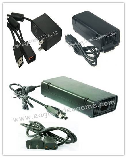 XBOX360 XBOX 360 Slim AC Adapter 135W/120W Original and XBOX360 Kinect AC Adapter/ Power Supply for