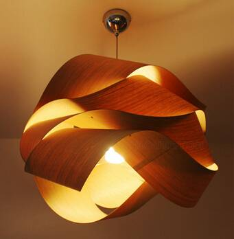 2015 wooden pendant light P1011-80