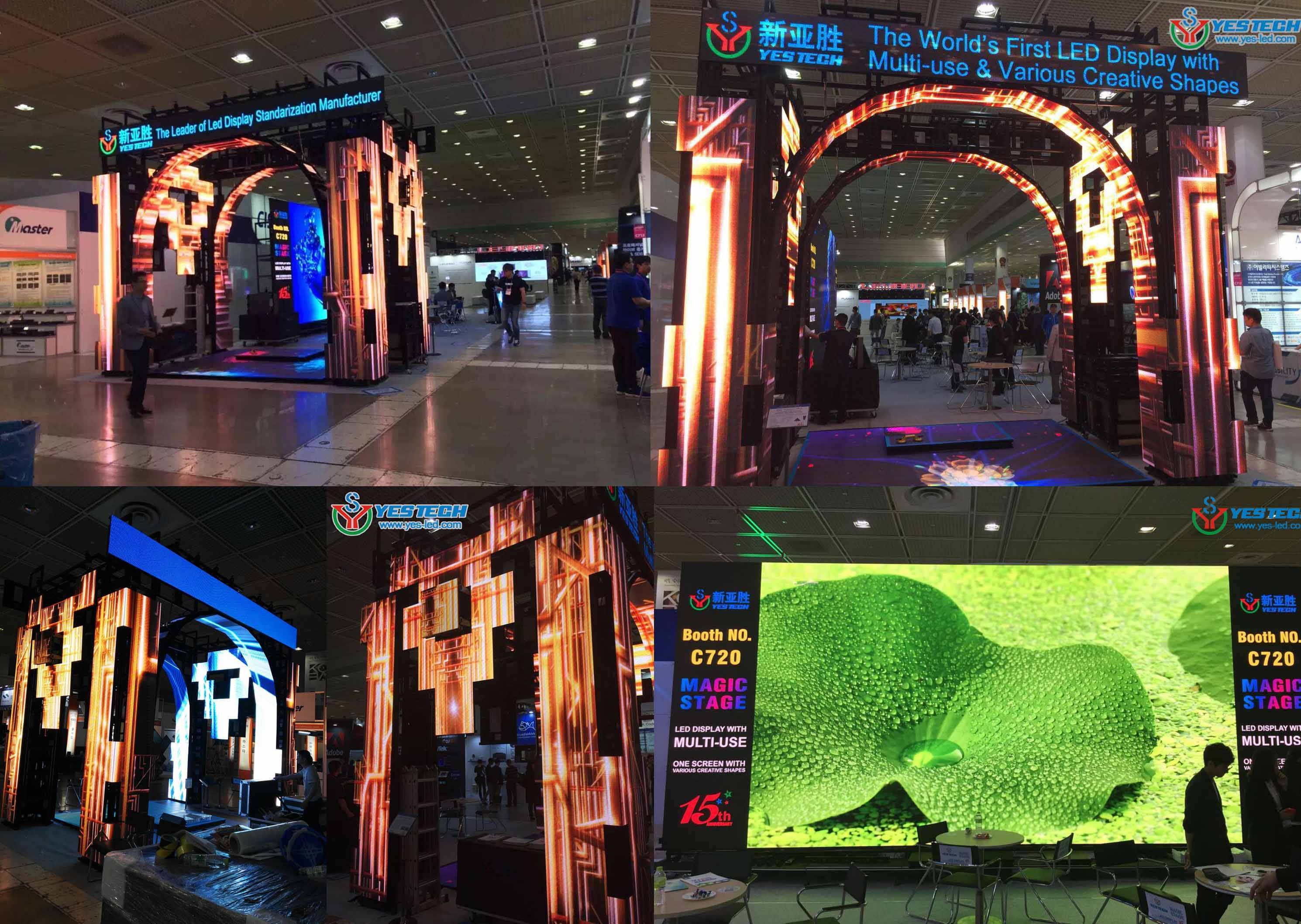 portable HD indoor video p3 led advertising display