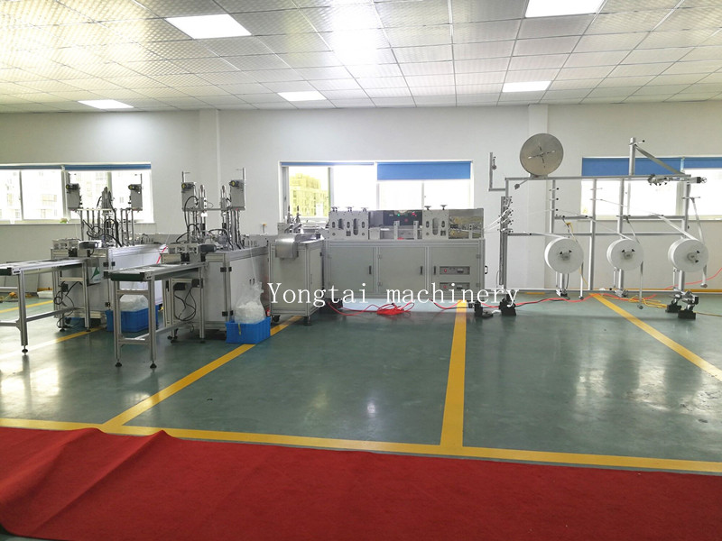 Fully automatic non woven face mask making machine with two output line