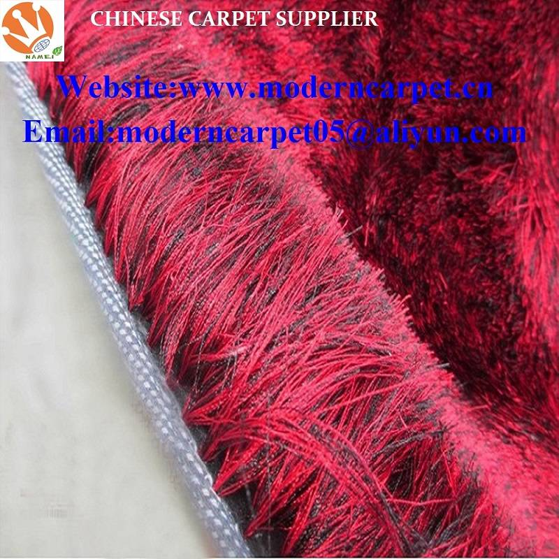 polyester silk soft shaggy carpets and rugs