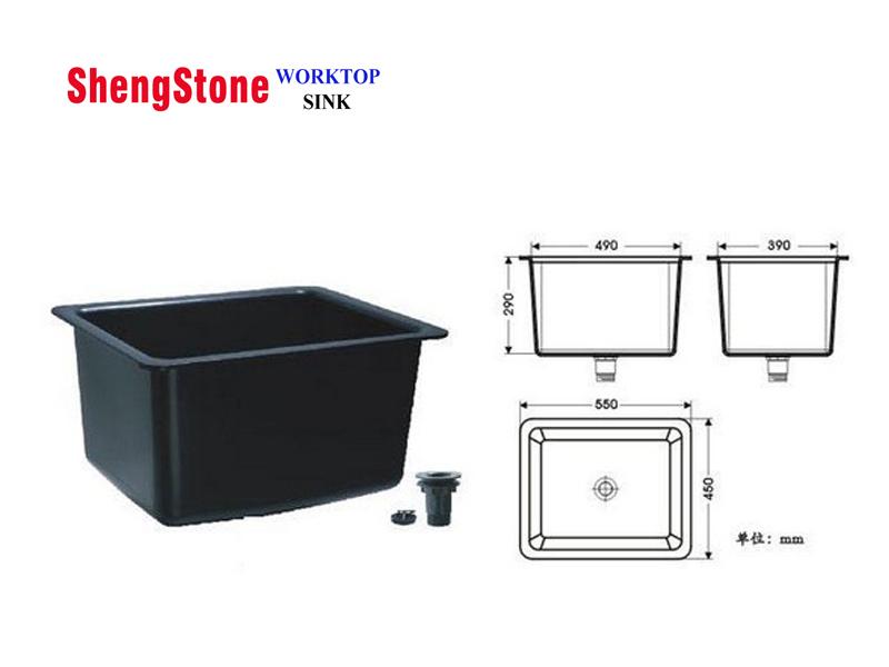 Laboratory PP sink,cheap price PP sink,550450 mm black PP sink