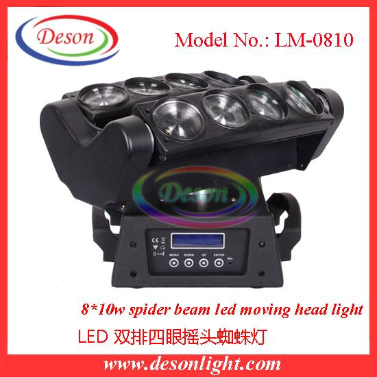 The new version led beam moving head light double eight spider light bar effect light LM-0810