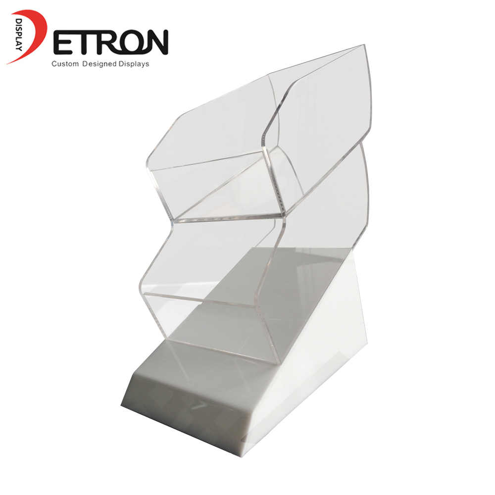 Supermarket retail OEM customized clear acrylic countertop chewing gum display stand