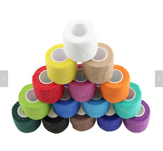 Colorful Sport Non-woven Cohesive Bandage with ISO & CE & FDA