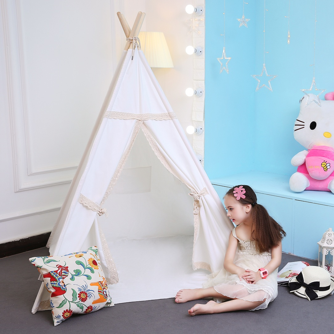 kids play tent teepee indian tents 100% cotton canvas teepee kids ten tipi tent kids indian teepee