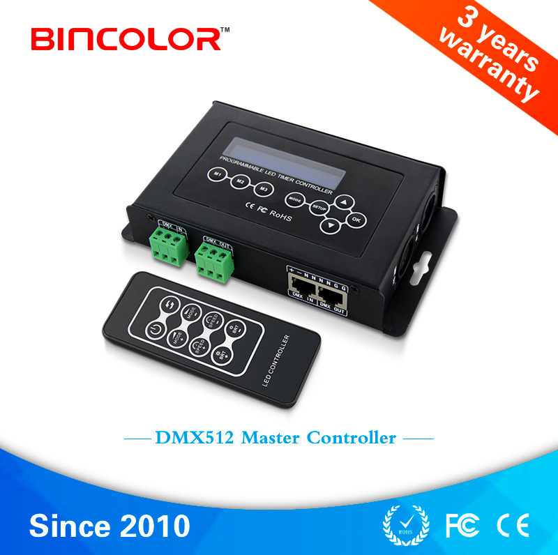 BC-100 digital display DMX512 RGB led light DMX controller with RF remote control
