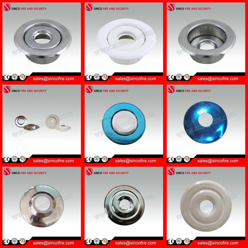 Fire sprinkler escutcheon recessed plate