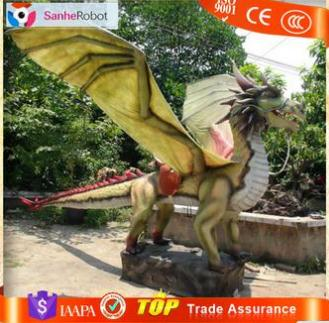 SH-RC003 Chinese Animatronic Dragon rides with Large Wings