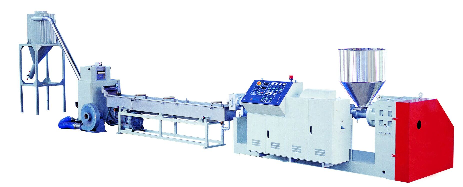 Single Screw Pelletizing Extrusion Line