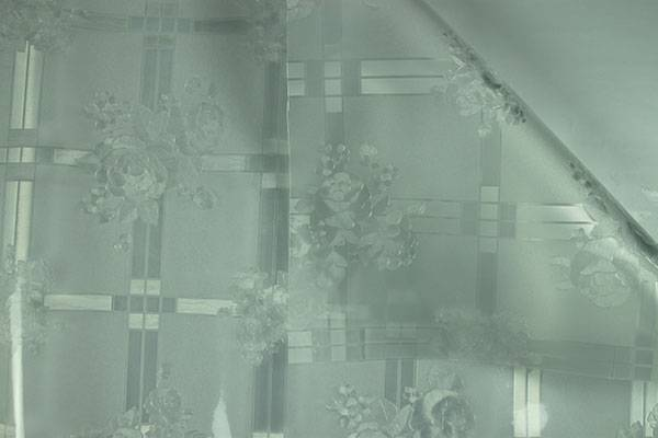 EVA Elegant Christmas Crystal Embossing Tablecloth