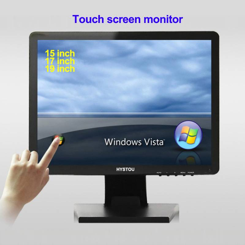15 inch LCD touch screen monitor computer display