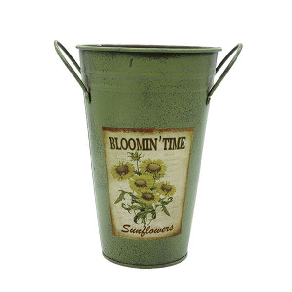 new design french style metal flower bucket