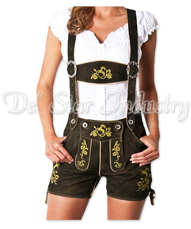 Women Leather Lederhosen Bavarian Costumes
