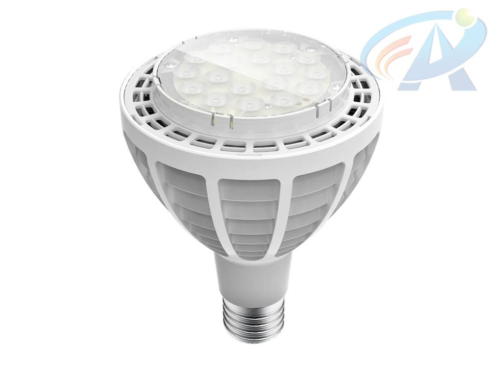 30W PAR30 E27 Fins Radiator LED Spot Light
