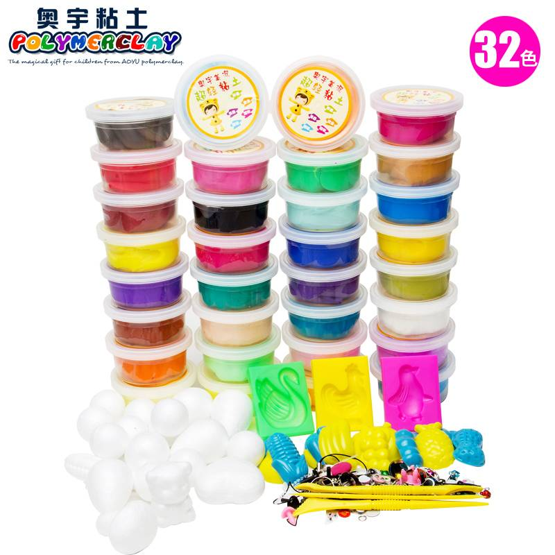 32 colors 3D DIY Educational superlight modeling clay