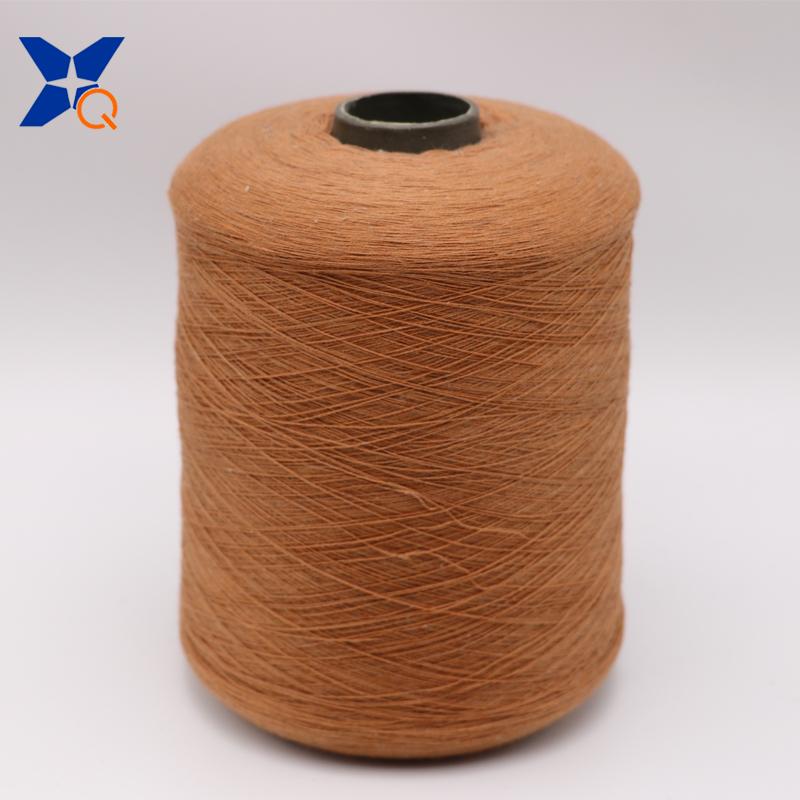 XT11025 light brown Ne32/2ply 7% stainless steel staple fiber blended with 93% polyester fibe