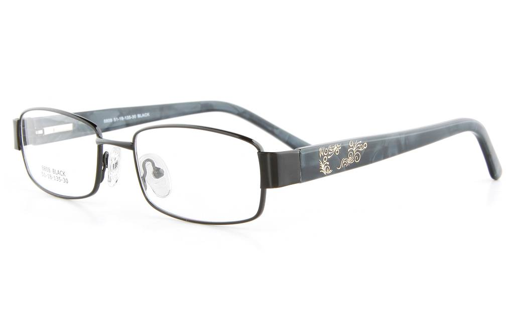 Black 8808 Full Rim Oval Metal-Stainless Steel/ZYL Glasses
