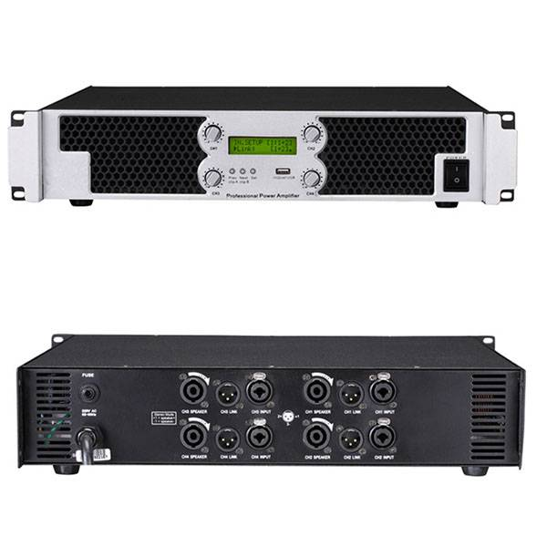 PA-4130 four channel power amp digital amp 1850W*4/4ohm 1300W*4/8ohm