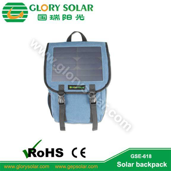 high quality business 6.5W solar backpack charge mobile phone