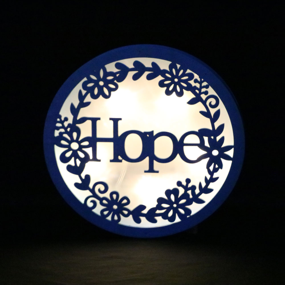 blue wall plague with hope party indoor decoration led wall decorative lighting