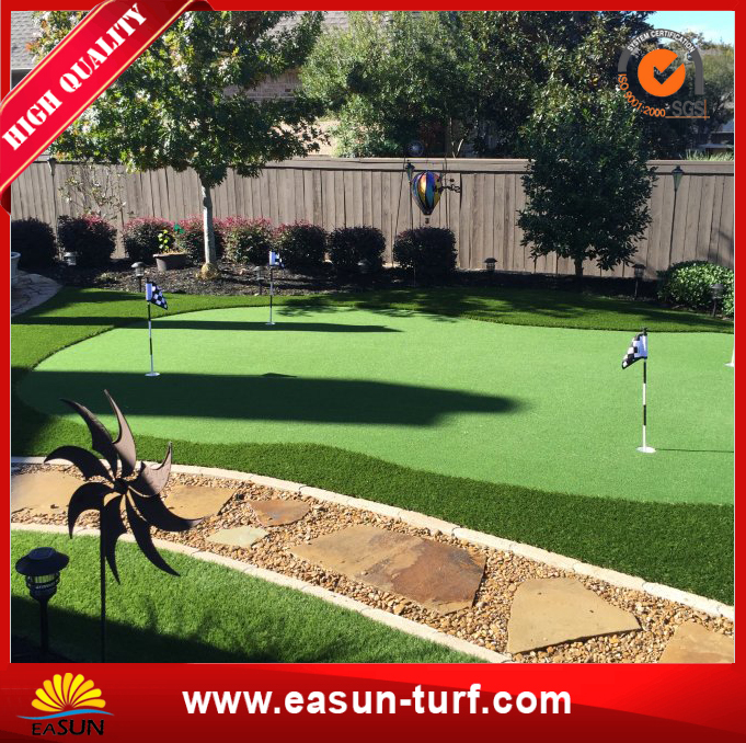 Green Plastic Lawn Artificial Grass for Garden Pool-MY