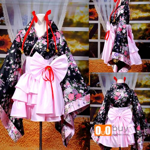 Anime Cosplay Costume Lolita Western style clothes Skin-friendly Yae no Sakura Kimono Cosplay Costum