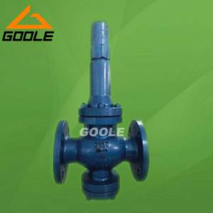 Direct acting piston type pressure reducing valve