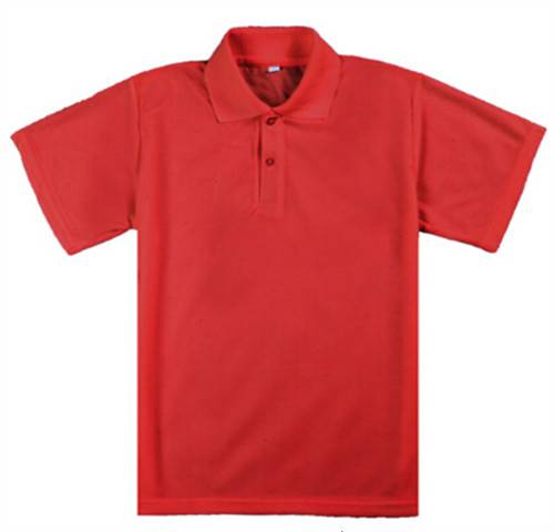 Pure color polyester and cotton can add logo POLO shirt