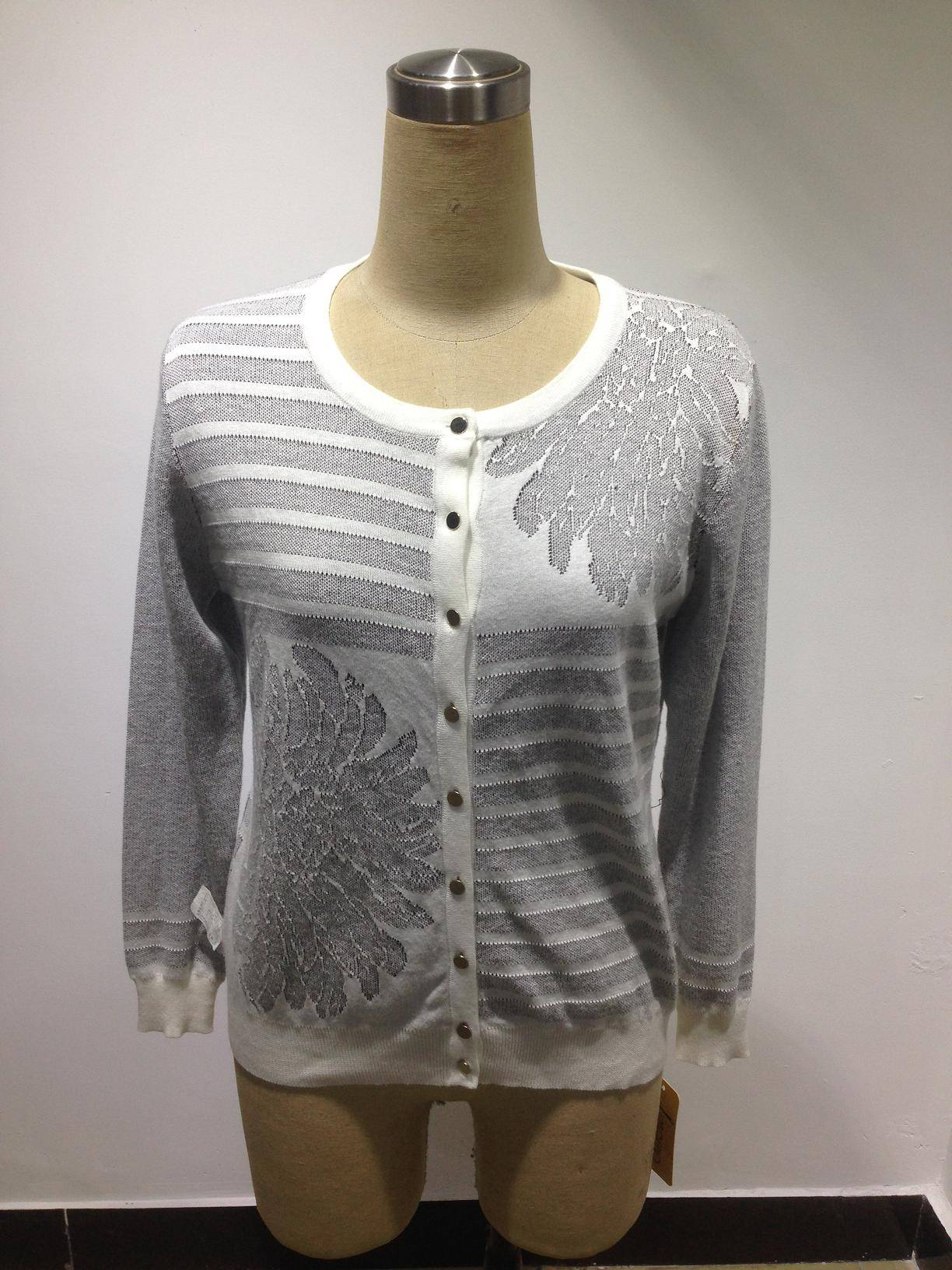 Fashion Ladies jacquard cardigan