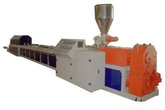 Leading technology WPC wood plastic profile extrusion production line