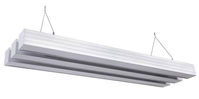 suspended aluminum light with three linear light pandent light