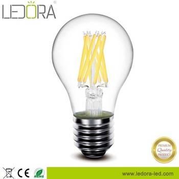 Clear LED Light Bulbs 2-8w A60 2200k-6000k Edison Filament Bulb E12 B22 E14 E27 LED Vintage Filament