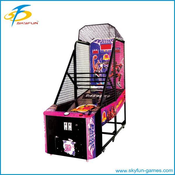 street basketball shooting machine