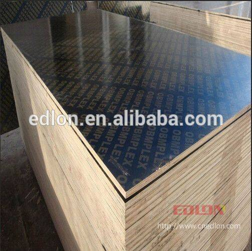 Phenolic Glue Black Film Faced Plywood With Poplar Core