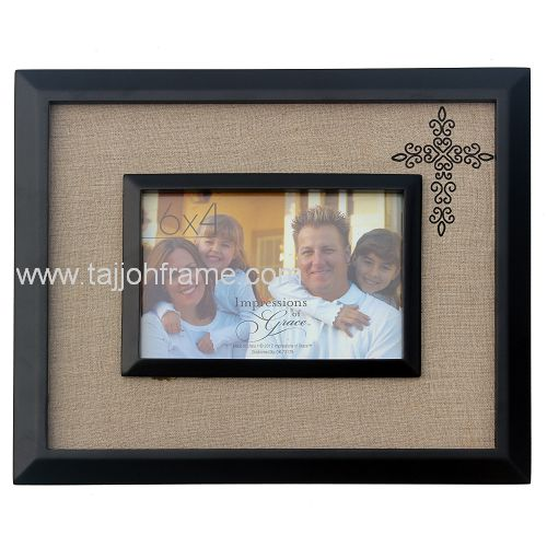 New Design Double Frame Screen Printing Wooden Photo Frame