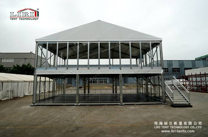 Waterproof Clear Roof Double Decker Tent Marquee Promotional