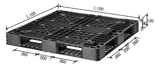 One-way Trip Packaging Plastic Pallet (Non Reversible)